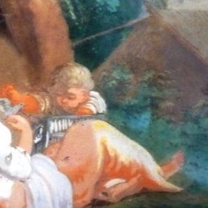 Scena Bucolica | Dipinto su Vetro XVII sec.