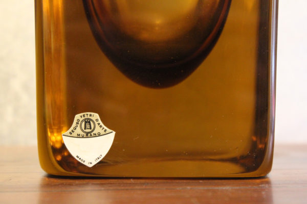 Seguso Vaso vetro sommerso 1955 '900 Antiquariato