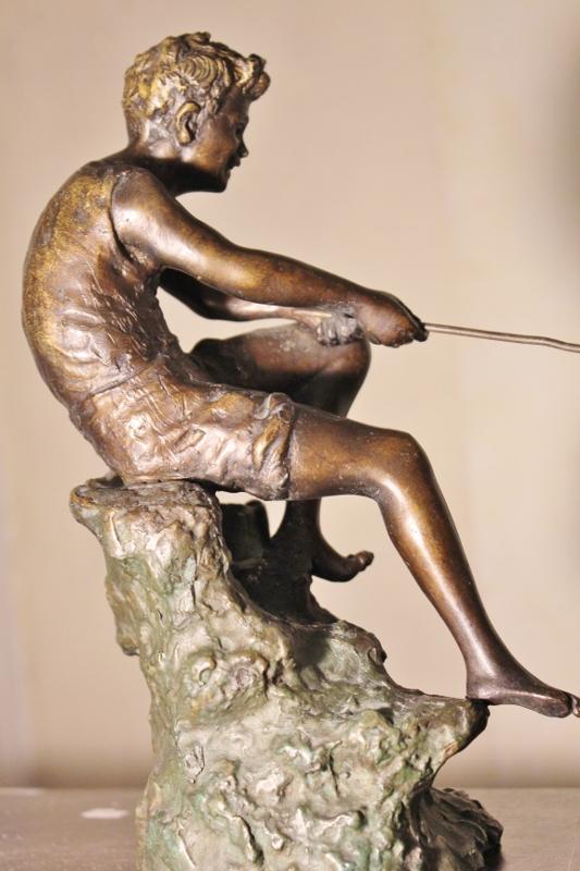 Giovanni De Martino pescatore bronzo h27cm (12)