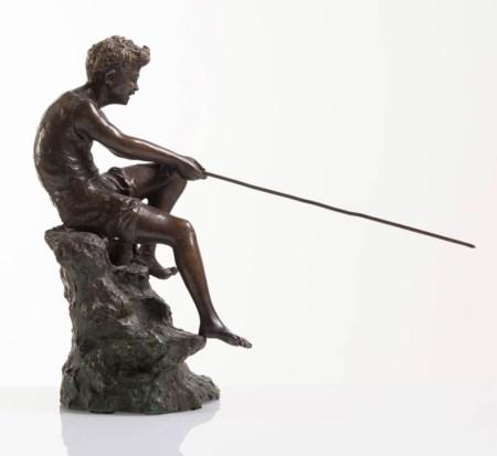 Giovanni De Martino pescatore bronzo h27cm (14)