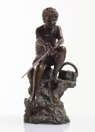 Giovanni De Martino pescatore bronzo h27cm (16)