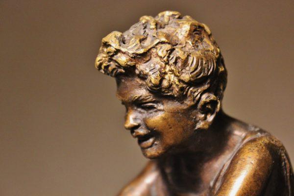 Giovanni De Martino pescatore bronzo h27cm (4)