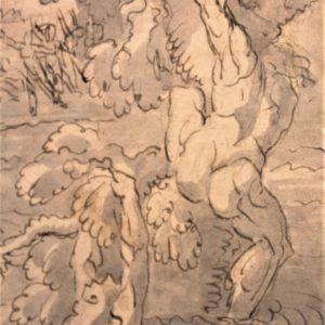 "Jean-Baptiste Joseph WICAR (1762-1834)|Disegno su carta ""Diluvio Universale"""