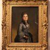 42x50 con cornice olio tela 800 ritratto ragazzacoi guanti