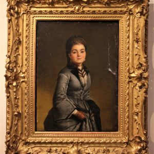 Anonimo del Ottocento | Ritratto di dama con guanti