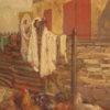 Maiani cortile aia 70x40 olio su cartone  1910  (1)