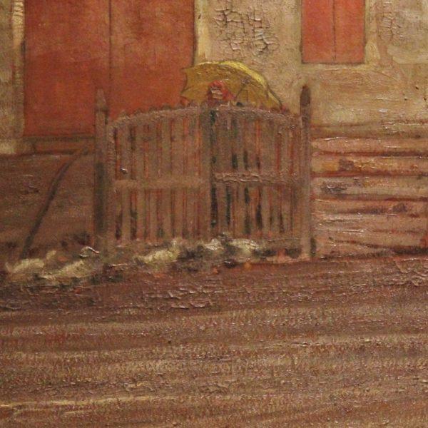 Maiani cortile aia 70x40 olio su cartone  1910  (2)