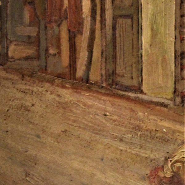 Maiani cortile aia 70x40 olio su cartone  1910  (7)