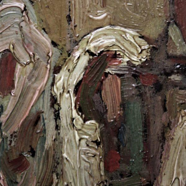 Maiani cortile aia 70x40 olio su cartone  1910  (9)