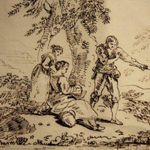 Carlo Labruzzi (Roma 1748 – Perugia 1817) | Disegno china su carta