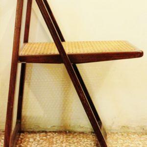 "Aldo Jacober, Pierangela d'Aniello | modello ""Trieste"" 6 sedie pieghevoli"