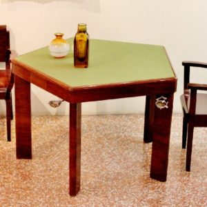 MelchiorreBega | Set da gioco tavolo pentagonale e 5 sedute