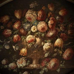 "Anonimo Veneto XVIIIsec.   ""Vaso con trionfo floreale"" , olio su tela"