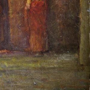 "A. MAJANI | ""Scena Romana"", 1893 olio su tavola"