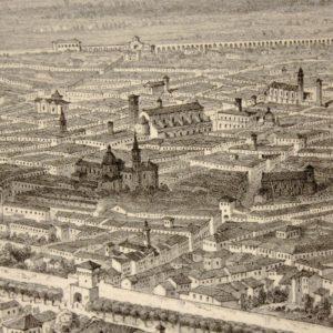 Guesdon Schultz | L'Italie à vol d'oiseau. Bologna due vedute 1849