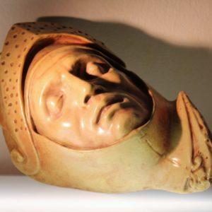 P.Melandri | Volto di G.Guidarelli ceramica a lustro