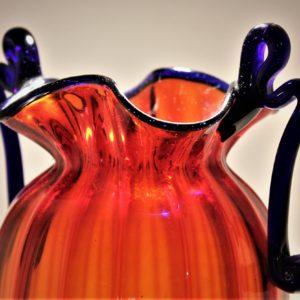 F.lli Toso Murano | Anfora in vetro rosso con manici